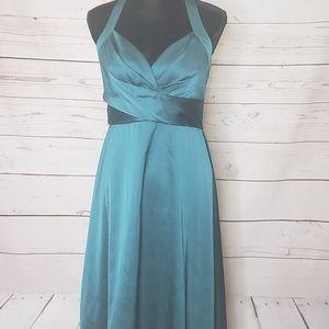 Donna Ricco Size 8 Halter Dress green